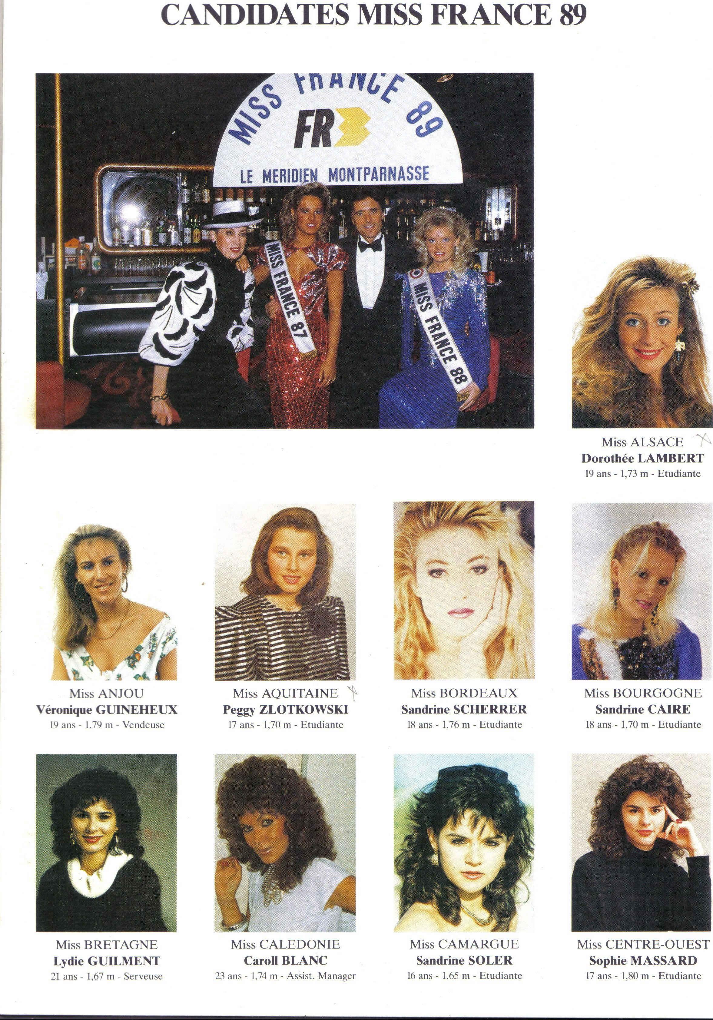 candidates miss france 1989. Black Bedroom Furniture Sets. Home Design Ideas